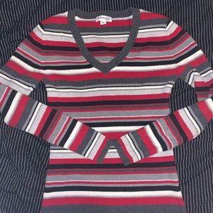 St. John's bay sweater striped